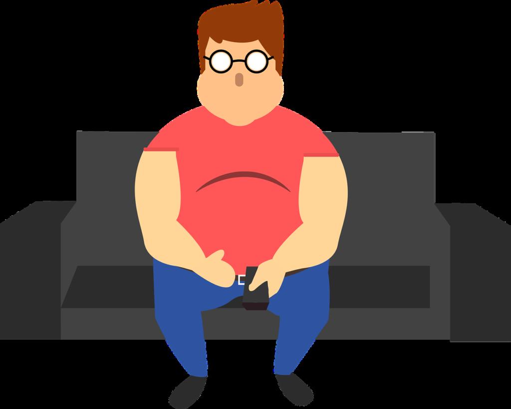 太る原因の一つは現代社会による運動不足